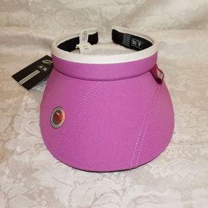 "ADIDAS ""Swerve 3.0"" UPF+50 Womens Pink Golf Visor"